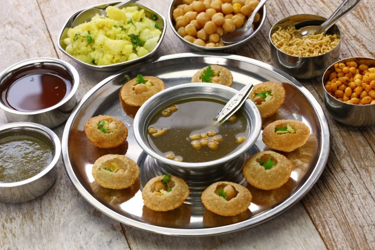 homemade pani puri, golgappa, indian snack
